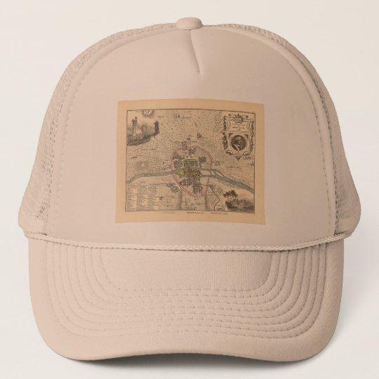 1858 Map Paris en 1180 - France Trucker Hat