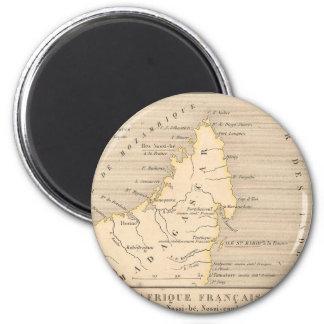 1858 mapa Afrique Francaise: Iles Ste Marie, Imán Redondo 5 Cm