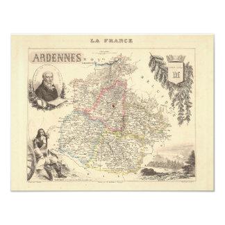 1858 mapa del departamento de Ardenas, Francia Anuncio Personalizado