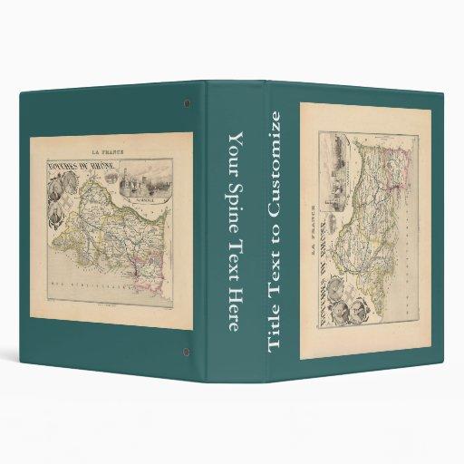 """1858 mapa del departamento de Bouches du Rhone, Fr Carpeta 1 1/2"""""""