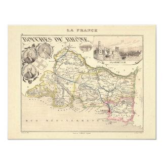 1858 mapa del departamento de Bouches du Rhone, Anuncios Personalizados