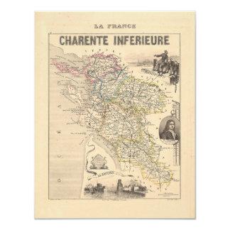 1858 mapa del departamento de Charente Inferieure, Comunicados Personalizados