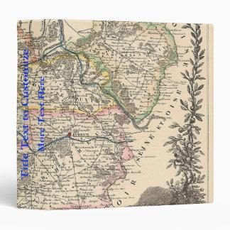 "1858 mapa del departamento de Eure, Francia Carpeta 1 1/2"""