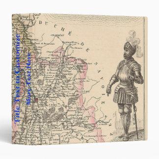 1858 mapa del departamento de Isere, Francia