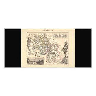 1858 mapa del departamento de Isere, Francia Tarjetas Publicitarias