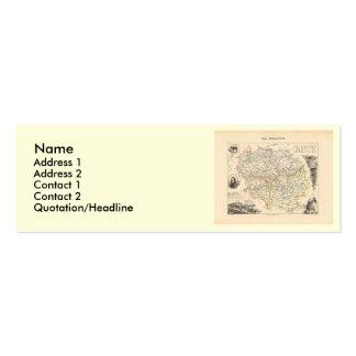 1858 mapa del departamento de la Creuse, Francia Plantilla De Tarjeta De Negocio