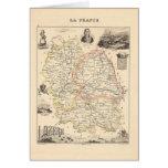 1858 mapa del departamento de Lozere, Francia Tarjetas
