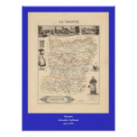 1858 mapa del departamento de Mayenne, Francia Impresiones