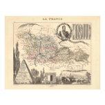 1858 mapa del departamento de Mosela, Francia Tarjeta Publicitaria