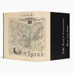 1858 mapa del departamento de Oise, Francia