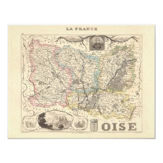 1858 mapa del departamento de Oise, Francia Anuncio Personalizado