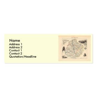 1858 mapa del departamento de Sarthe, Francia Plantillas De Tarjetas Personales