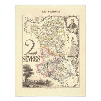 1858 mapa del departamento de Sevres, Francia Anuncio