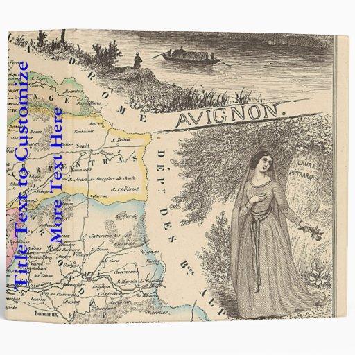 "1858 mapa del departamento de Vaucluse, Francia Carpeta 2"""