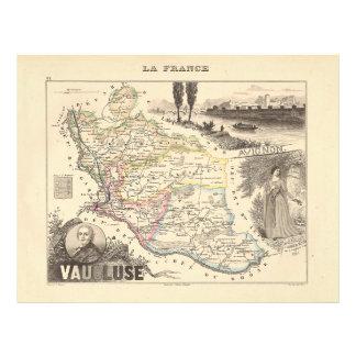 1858 mapa del departamento de Vaucluse Francia Tarjetas Publicitarias