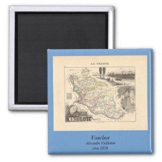 1858 mapa del departamento de Vaucluse Francia Imán De Frigorífico