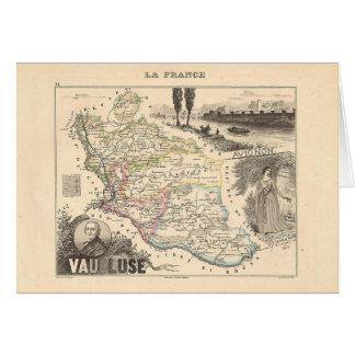1858 mapa del departamento de Vaucluse Francia Tarjetón