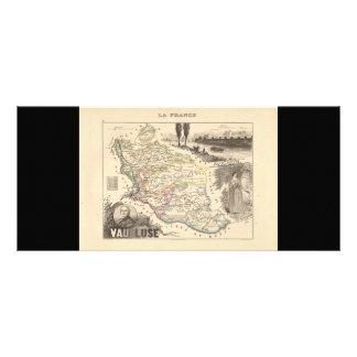 1858 mapa del departamento de Vaucluse Francia Tarjeta Publicitaria