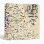 1858 mapa del departamento de Vienne, Francia