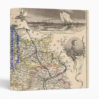 "1858 mapa del departamento del de Calais del Pas, Carpeta 1"""