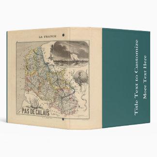 "1858 mapa del departamento del de Calais del Pas, Carpeta 1 1/2"""