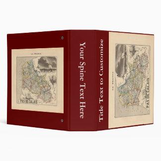 "1858 mapa del departamento del de Calais del Pas, Carpeta 2"""