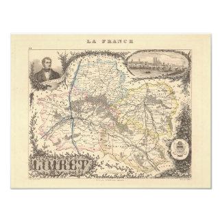 1858 mapa del departamento del Loiret, Francia Anuncios