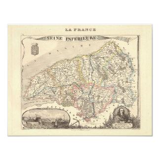 1858 mapa del departamento del Sena Inferieure, Comunicado Personalizado