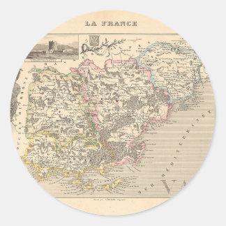 1858 mapa del departamento del Var Francia Etiqueta