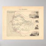 1858 mapa - Senegambie (Senegal) - Francia Poster
