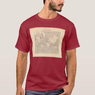 1858 World Map: Planisphere - France T-Shirt
