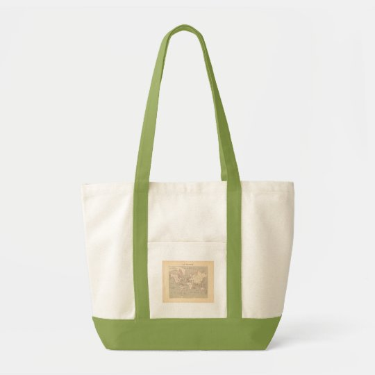 1858 World Map: Planisphere - France Tote Bag