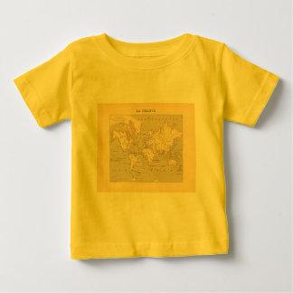 1858 World Map: Planisphere - France Tshirts