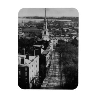 1859:  A view of Boston from the State House Magnet