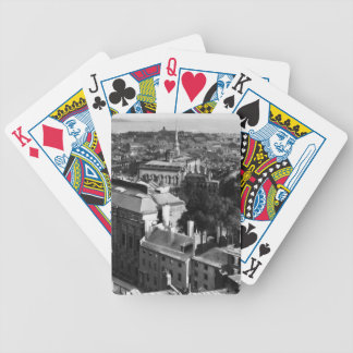 1859:  A view of Boston looking south Bicycle Playing Cards