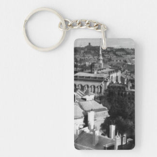 1859:  A view of Boston looking south Double-Sided Rectangular Acrylic Keychain