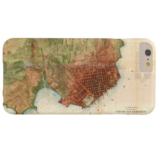 1859 Coast Survey Map of San Francisco Barely There iPhone 6 Plus Case