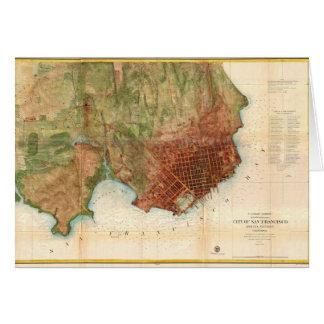 1859 Coast Survey Map of San Francisco Greeting Cards