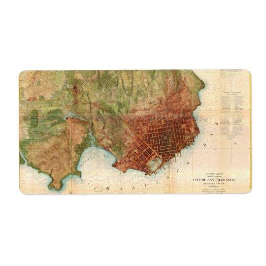 1859 Coast Survey Map of San Francisco Label