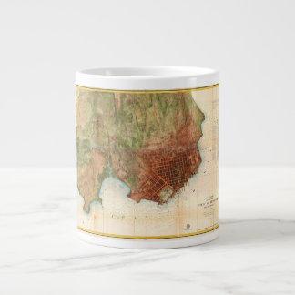1859 Coast Survey Map of San Francisco Large Coffee Mug