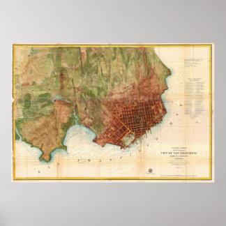 1859 Coast Survey Map of San Francisco Poster