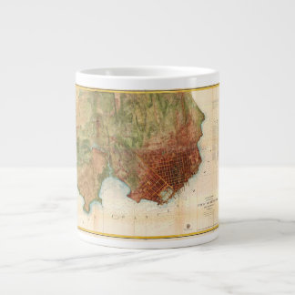 1859 Coast Survey Map of San Francisco 20 Oz Large Ceramic Coffee Mug