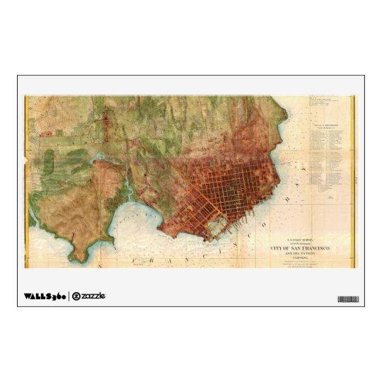 1859 Coast Survey Map of San Francisco Wall Decal
