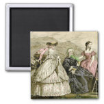 1859 Fashions 2 Inch Square Magnet