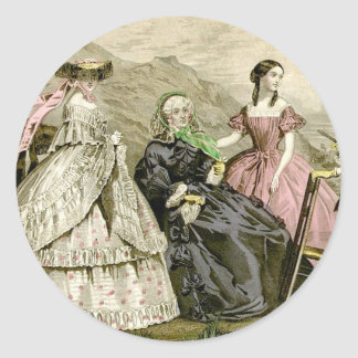 1859 Fashions Classic Round Sticker