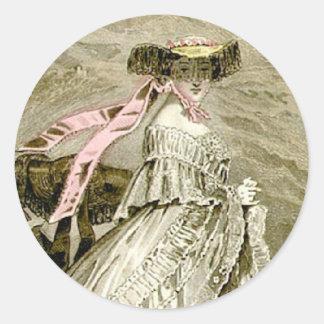 1859 Fashions Classic Round Sticker