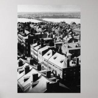 1859: La ciudad de Boston, Massachusetts Póster