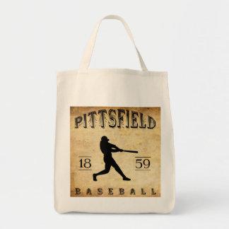 1859 Pittsfield Massachusetts Baseball Tote Bags