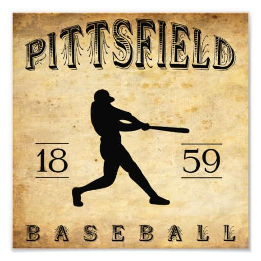 1859 Pittsfield Massachusetts Baseball Art Photo