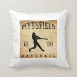 1859 Pittsfield Massachusetts Baseball Throw Pillows